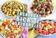 4 ensaladas muy ricas, fáciles y saludables