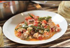 Carne de puerco con rajas – Cocina mexicana