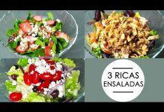 Cómo preparar tres ensaladas muy fáciles: oriental, griega y espinacas
