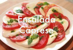 Ensalada Caprese Italiana – Recetas de Ensaladas
