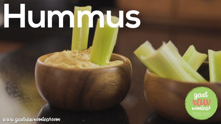 Hummus de garbanzo sin aceites / Comida Saludable