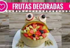 Sapito decorativo relleno de frutas / Figuras con frutas