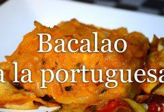 Cómo preparar bacalao a la Portuguesa