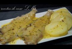 Cómo preparar un pescado con salsa Menier. Receta Fácil.
