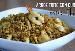 Arroz frito con curry estilo Thai – Thai Curry Fried Rice Recipe