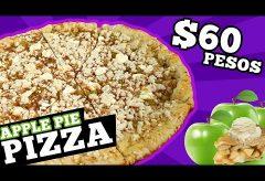 Cómo preparar una pizza dulce de manzana por menos de 60 pesos  (=3€=3$)