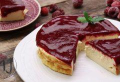 Cómo preparar una tarta o cheesecake con coulis de frambuesa #tartapormenosde3euros