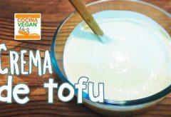 Crema de Tofu, fácil y riquísima