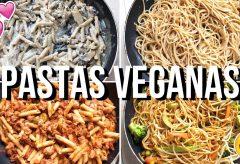 4 recetas de pasta veganas rápidas, saludables y deliciosas