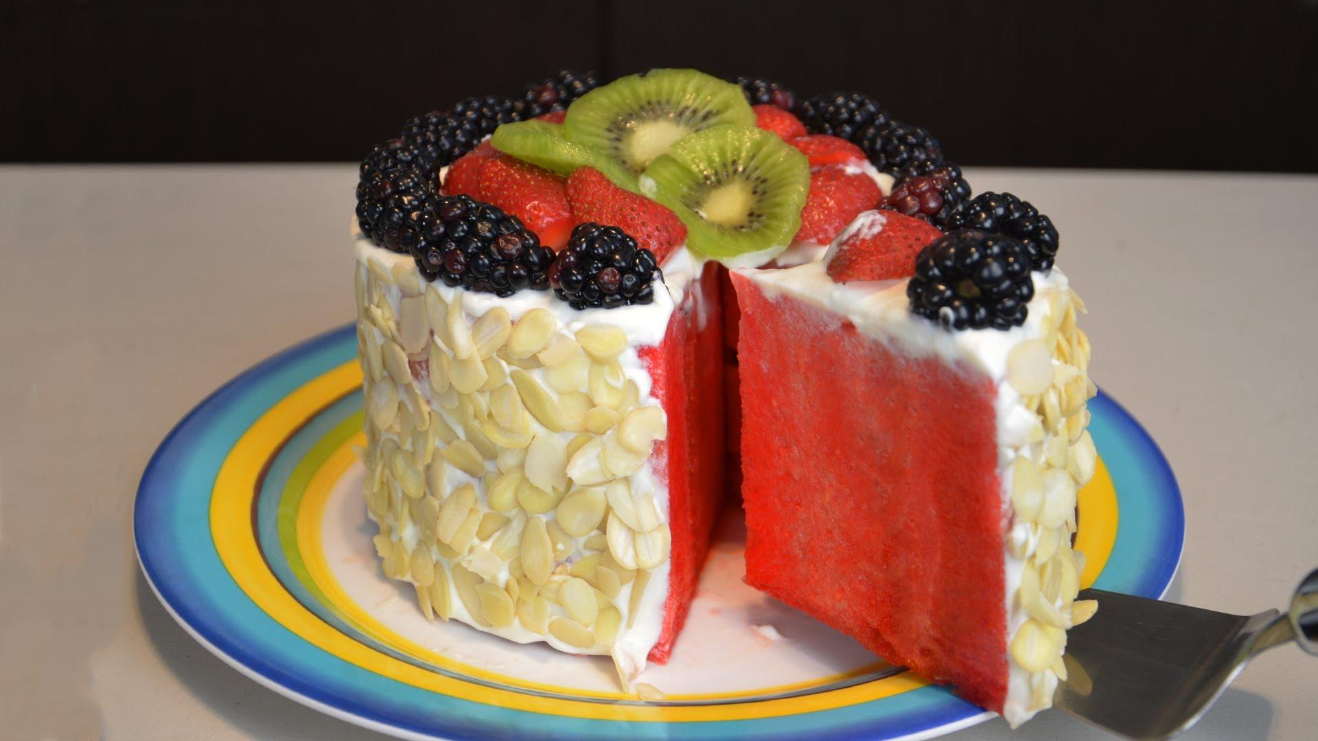 Pastel de frutas f cil y sin horno v deos de cocina y for Videos de cocina facil
