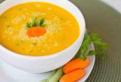 Cómo preparar una fácil sopa crema de zanahoria