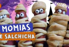 Momias de salchica / Mummy hot dogs recipe / Recetas para Halloween