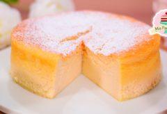 Pastel japonés esponjoso o bizcocho tembloroso