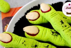 Receta de dedos zombies para Halloween