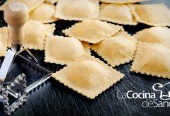 Aprende a cocinar Ravioles caseros rellenos de Ricotta y Jamon