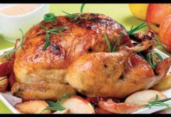 Cómo hacer pollo al horno navideño