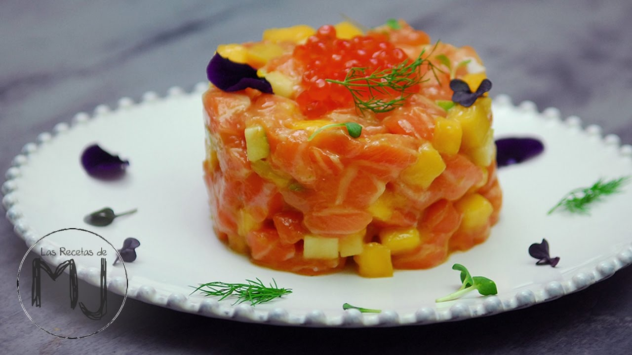 C mo preparar un rico tartar de salm n v deos de cocina for Como cocinar salmon