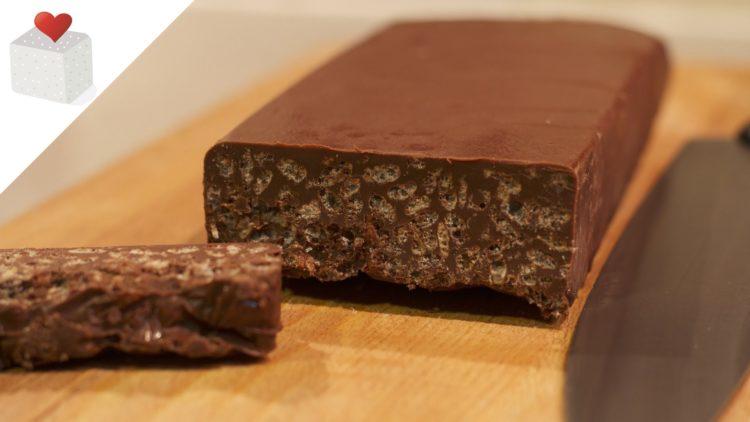 Preparar un deliciosos turrón de Chocolate Crujiente para Navidad