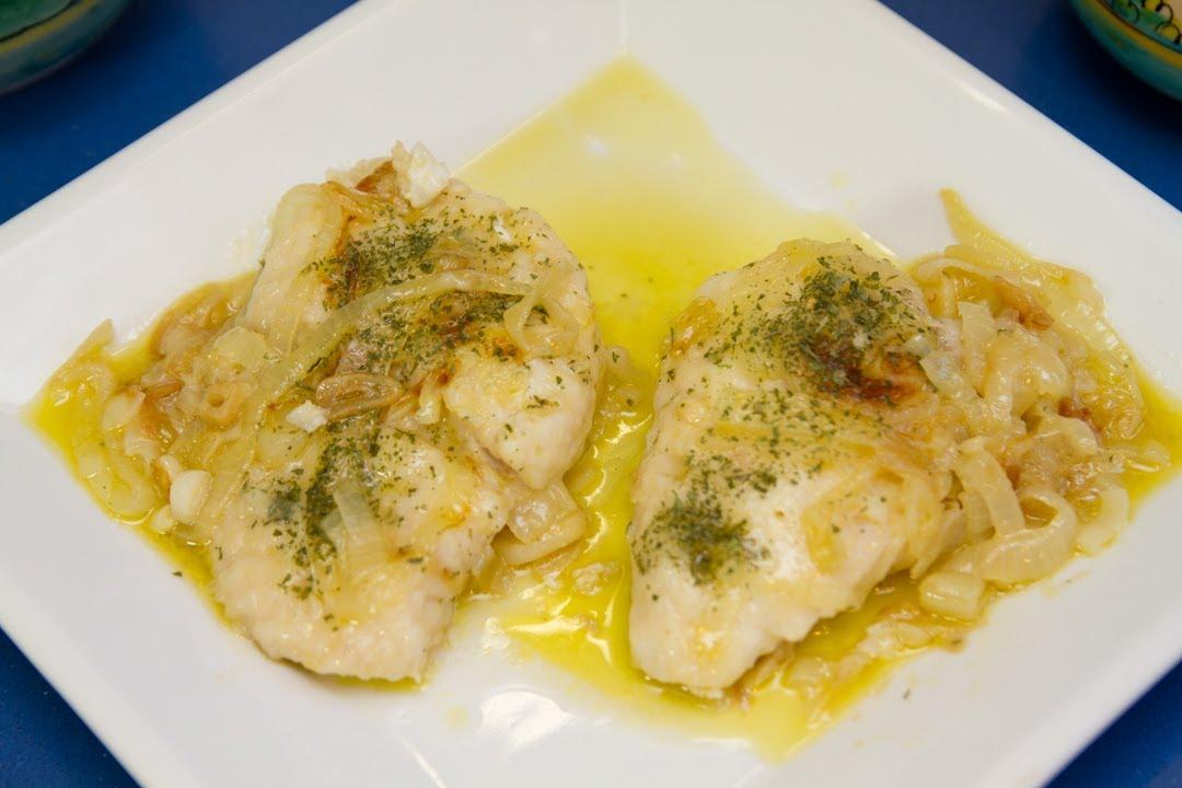 Receta para cocinar un pescado encebollado v deos de for Resetas para cocinar